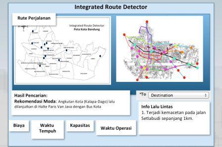 Pecahkan masalah transportasi dengan sistem informasi terintegrasi setelah memilih destinasi alat ini akan menunjukkan 3 alternatif rute yang memberikan informasi mengenai waktu dan jarak dari setiap rute ccuart Image collections